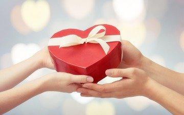 hands, gift, valentine's day, 14 feb