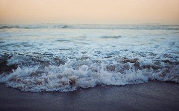 небо, вода, волны, пейзаж, море, песок, пляж
