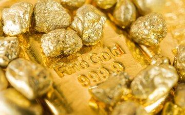 metal, stones, gold, ingot