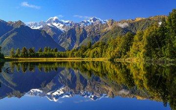 озеро, горы, природа, лес, отражение, пейзаж, eddy wegrzyn