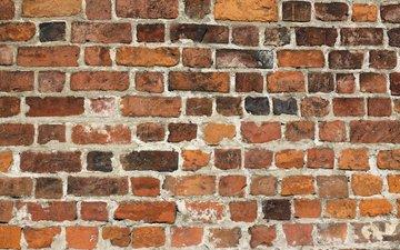 texture, wall, bricks, surface, brick wall