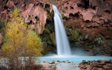 река, скалы, природа, водопад, осень, michael wilson
