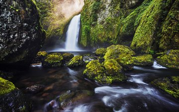 river, nature, waterfall, sven mueller