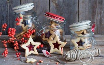 новый год, ягоды, тепло, рождество, печенье, выпечка, банки