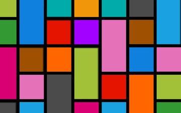 абстракция, разноцветные, квадраты, прямоугольники