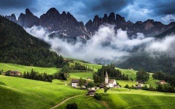 горы, природа, пейзаж, деревня, альпы, andreas wonisch