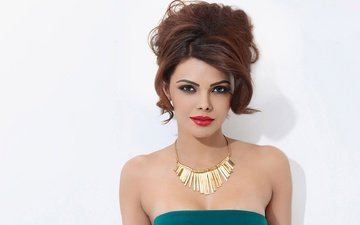 girl, model, hair, lips, face, actress, makeup, celebrity, bollywood, sherlyn chopra, sherlin chopra