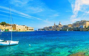 sea, yachts, malta, valletta
