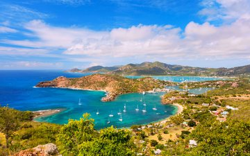 landscape, sea, yachts, 15