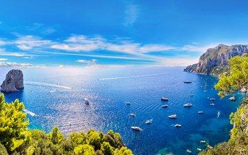 landscape, sea, yachts, 3