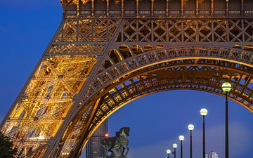 башня, париж, франция, эйфелева башня