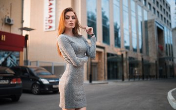 girl, dress, the city, look, auto, model, hair, photographer, face, dmitry sn