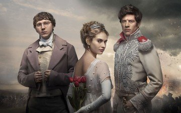 the film, actors, and, war and peace, paul dano, james norton, lily james