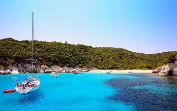 sea, beach, yachts