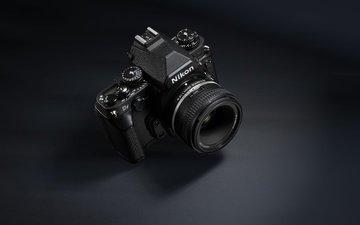 чёрно-белое, камера, никон, аппарат