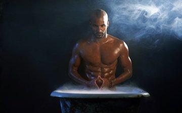 взгляд, актёр, лицо, ванна, рики уиттл