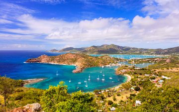 landscape, sea, yachts, 9