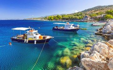 sea, boats, greece, 4
