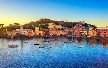 море, город, италия, сестри леванте