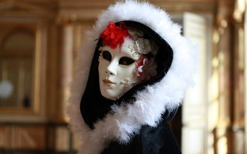 mask, flower, costume, hood, carnival