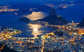night, brazil, rio de janeiro