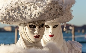 venice, costumes, hats, mask, carnival