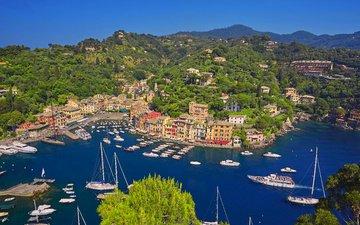 море, яхты, италия, 5, портофино