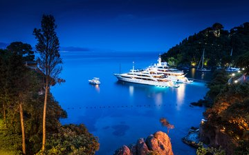 the evening, sea, yachts, 6