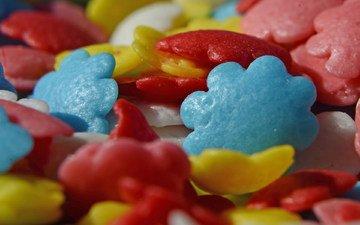 разноцветные, сладкое, конфета, посыпка