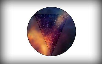 minimalism, figure, triangle, round, minimal