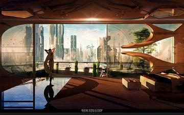 планета, города, город, дома, комната, вс, будущего, неба, космическая, взляд, с, широкие, ницца, gевочка, звезд, aluren