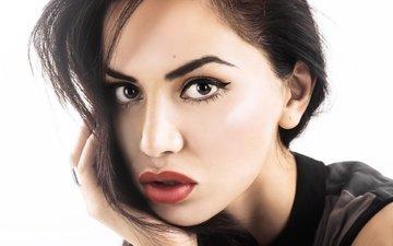 глаза, девушка, брюнетка, модель, волосы, губы, лицо, макияж, diipa khosla