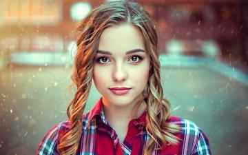 девушка, взгляд, волосы, лицо, varya, kirill bukrey