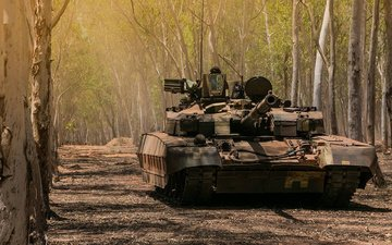 ukraine, main, battle tank, t-84m oplot