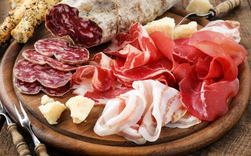 колбаса, ветчина, мясные продукты, сало