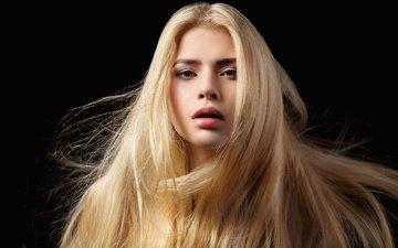 девушка, портрет, взгляд, модель, волосы, губы, лицо