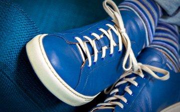 ноги, носки, обувь, шнурки
