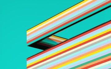strip, abstraction, line, design, color, form