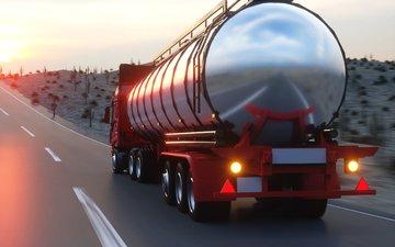 машина, танкер, бензовоз