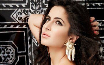 girl, brunette, look, model, hair, lips, face, actress, makeup, katrina kaif