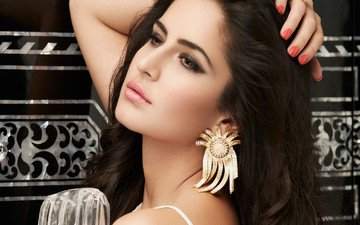 girl, portrait, look, hair, lips, face, actress, indian, katrina kaif