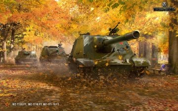 autumn, tanks, world of tanks