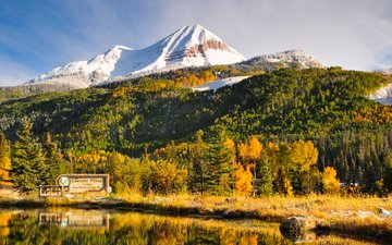 lake, mountains, nature, forest, autumn, kit frost