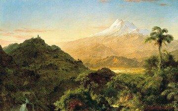 art, mountains, landscape, painting, frederic edwin church