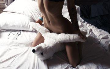 девушка, игрушка, модель, ножки, красиво, постель, фигурка, ura pechen