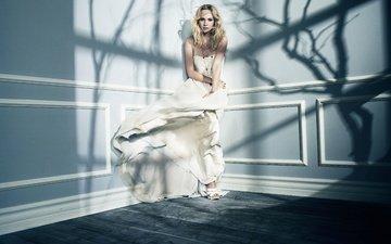 девушка, платье, блондинка, дневники вампира, кэндис аккола