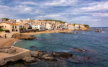 sea, coast, spain, catalonia, palafrugell