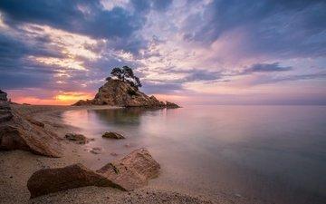 sea, coast, spain, catalonia, treumal