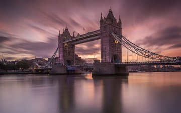night, london, tower bridge