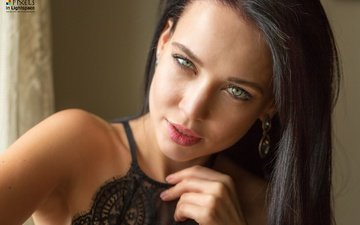 portrait, brunette, look, model, makeup, angelina petrova, mladen dakic